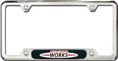 license plate frame john cooper works - Mini Cooper License Plate Frame