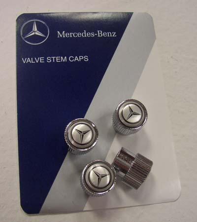 Mercedes logo valve stem caps set of four for Mercedes benz valve stem caps