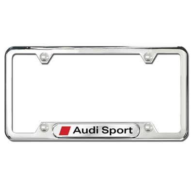 rear steel large license cover frame for gift plate front stainless audi sport products black