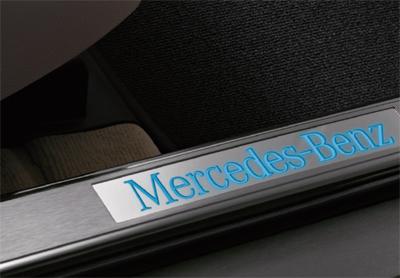 Mercedes glk illuminated door sills for Mercedes benz door sill